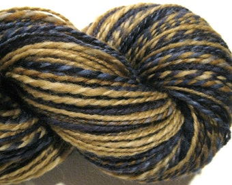 Handspun yarn, Forever in Blue Jeans, worsted weight, 2 ply, 250 yards, wool yarn, 2 ply yarn,  knitting supplies, navy, crochet supplies