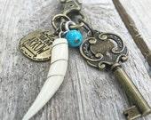 Leather Bohemian Boho Charm Necklace - Follow Your Arrow