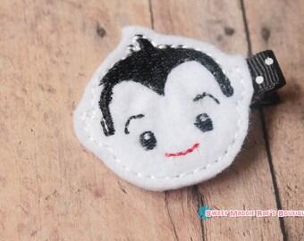 Felt Hair Clip--Vampire Boy Hair Clip