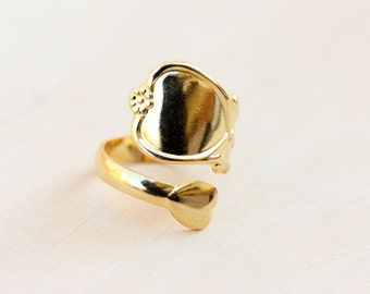 Gold Spoon Ring