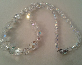 Necklace - Swarovski Crystal - Clear in Graduated sizes