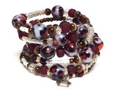 BLOCK PARTY coil Beaded Bracelet by Beading Divas Fundraiser