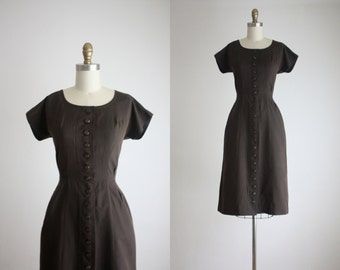 1960s hazelnut dress