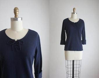 vintage 1970s knit blouse