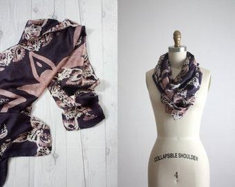 1960s silk batik scarf