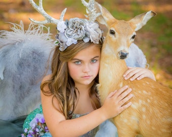 Antler Halo and matching dress
