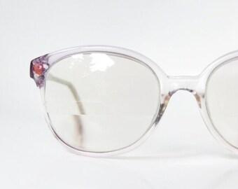 SALE Vintage Heart Girly Girl Eyeglasses Wayfarer Glasses Eyeglass Frames Indie Hipster Pink Metallic Rhinestone Magenta Lavender Pastel 198