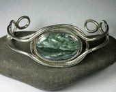 cuff bracelet - seraphinite and sterling silver