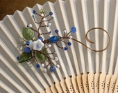 A Sprig of Blue and White