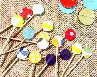 Confetti Dots - embellished cocktail toothpicks (set of 50)