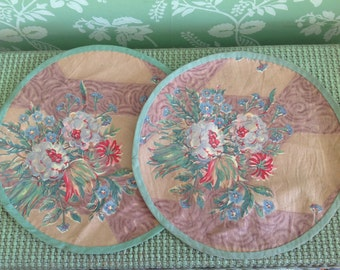 Vintage French Fabric Mats