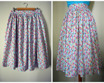 Swell Dame 1950s harlequin gathered skirt Made To Order in your measuremments,variety of fabrics