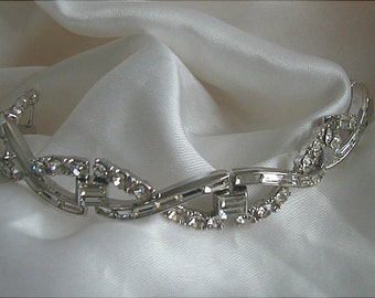 Trifari Philippe Crystal Criss Cross Bracelet