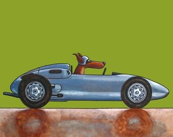 "051 Porsche 1960 - print 27x27cm/10.5x10.5"""