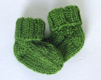 Infant Baby Socks Hand Knit, Ready To Ship, Newborn 0 to 3 Months Baby Boy Clothes Baby Girl Clothing Baby Shower Gift Warm Winter Wear