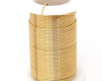 Tarnish Resistant Wire Gold Color 22ga 20yd Spool