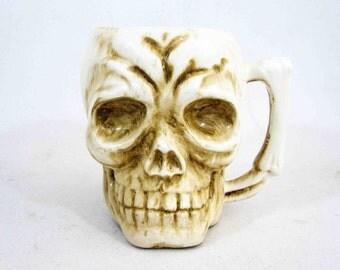 Vintage Skull Tiki Mug by Orchids of Hawaii - Japan. Circa 1960's.