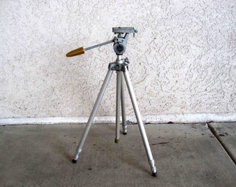 Vintage Alpha Stanrite Superpod Aluminum Camera Tripod. Circa 1960's