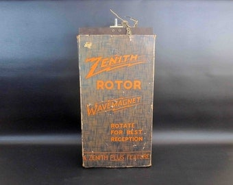 Vintage Zenith Rotor Wave Magnet Antenna. Circa 1930's.