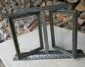 Vintage Double Art Deco Swing Frame With Glass from Rustysecrets