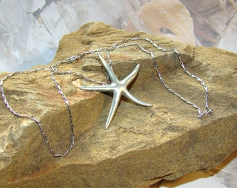 Vintage Chelsea Starfish Necklace - Designer Signed - Unique Chain - Stunning Necklace