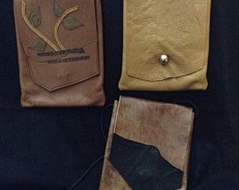 Leather Bag Lot - Three Bags