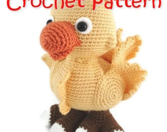 crochet pattern bird chick parrot PDF guide INSTANT DOWNLOAD