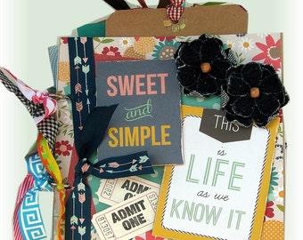 Mini Scrapbook, Premade Scrapbook, Photo Album, Memory Album, Life Book, Anniversary Album,  Birthday Gift, Graduation Gift, Wedding Gift