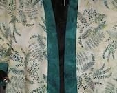 CLEARANCE- KIMONO JACKET #K210 with Green Ferns