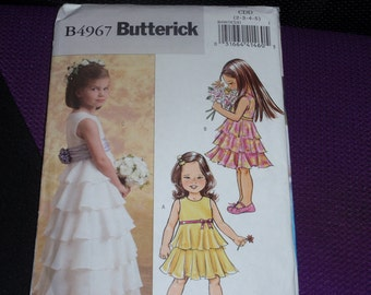 Butterick 4967 Flower Girl Formal Dress and Jacket  Size 2-3-4-5