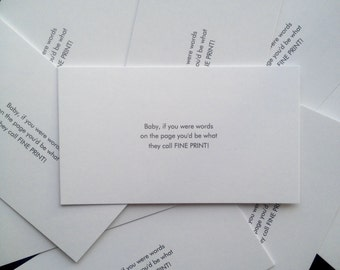 Pickup Line Cards