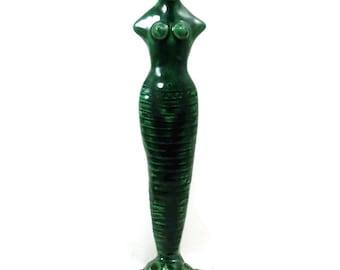RAKU Divine Mother Handmade Ceramic Sculpture STATUE DEVI