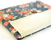 """11"""" Laptop Sleeve Case for 11.6 inch 13 inch MacBook Pro, MacBook Air, 11 inch Chromebook Case - Vintage Flowers"""