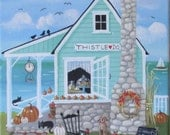 Thistle Do Country Store ORIGINAL Folk Art Painting FREE Shipping
