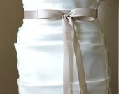 "Bridal Sash Double Sided Satin Ribbon 7/8"" Wide -from 2 1/2 to 4 yards Long"