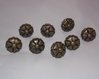 8 Vintage Brass Drawer Pulls