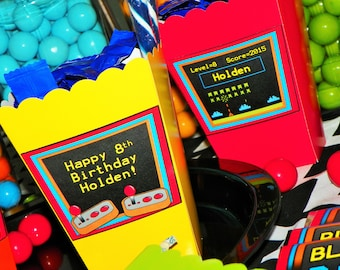 Video Game Party Mini Popcorn Boxes. Video Game Snack Boxes. Arcade Themed Party. Video Game Birthday Favor Boxes. Gaming Birthday. 10 Count