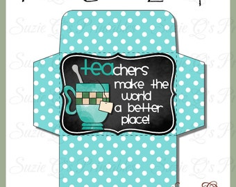Teacher Gift Card Envelope - Digital Printable - Immediate Download
