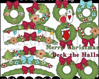 Boughts of Holly Clipart Collection - Immediate Download
