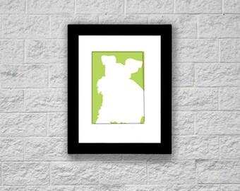 Modern Schnauzer Silhouette Art Print, Miniature Schnauzer, Printable Art, Instant Download, Dog Art Print