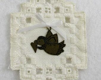 Snowflake Hardanger Christmas Ornament 103