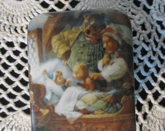 Ardleigh-Elliott Goldilocks & Bears Music Box New Old-stock Porcelain Vintage Music box