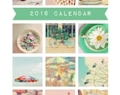 SALE 30% OFF - 2016 Calendar, Photography Calendar, Desk Calendar, Photo Calendar, 5x7, Retro, Fine Art Prints, AliceBGardens, Vintage Style