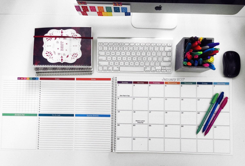 Desk Calendar Planner : Monthly desk calendar large