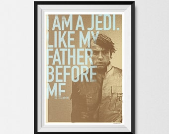 Star Wars, Print, Inspired, Luke Skywalker Print, Star Wars Print, Skywalker Print, Star Wars Poster