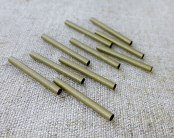Pack of 60 – Antique Bronze Tube Beads