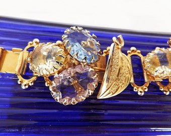 Vintage Juliana Bracelet, Upscale Costume Jewelry, Dressy Bracelet, Dressy Jewelry, Formal Bracelet, Rhinestone Bracelet, Designer Jewelry