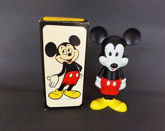 1969 Vintage Mickey Mouse Bubble Bath in Original Box, New Old Stock, Collectible Fragrances and Perfumes, Walt Disney, Avon Mickey Mouse,
