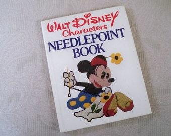 "Vintage Book ""Walt Disney Characters Needlepoint Book"" 1976"