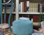 Turquoise Ottoman for Dolls